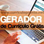 Gerador de Currículo Online Grátis