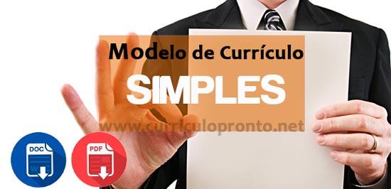 Banner Modelo de Currículo Simples