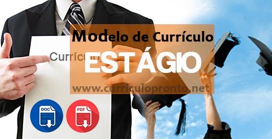 Modelo De Curriculo Para Estagio Como Fazer Exemplo Pronto