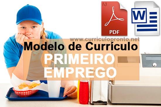 Modelo de Currículo para Primeiro Emprego